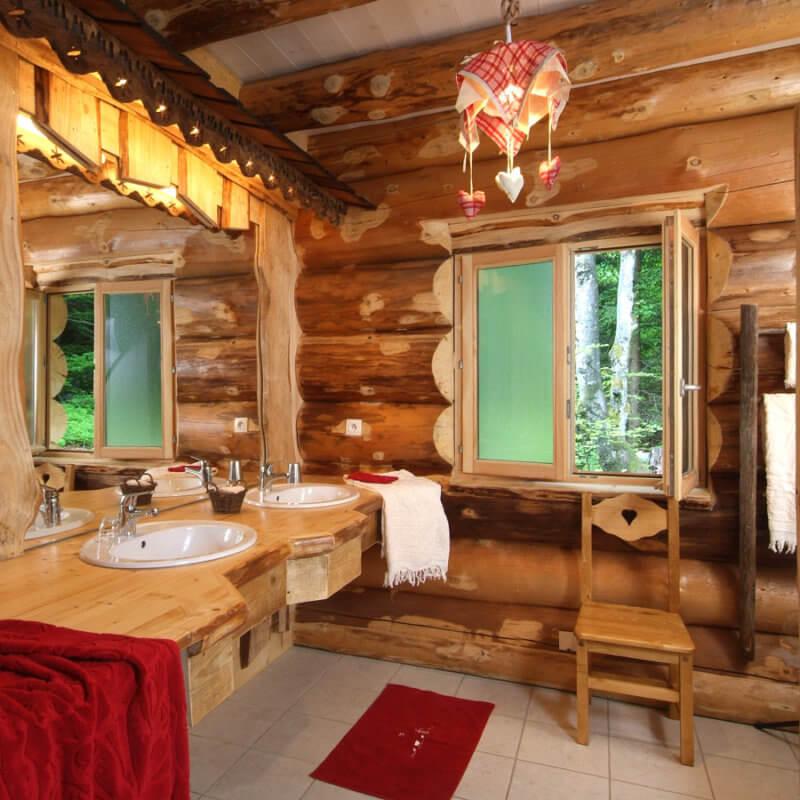 salle de bain chalet 12 personnes à la bresse
