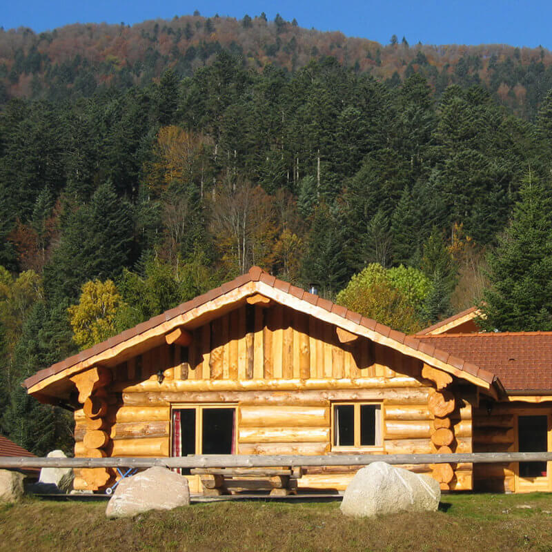 chalet rondins le herbau accessible pmr