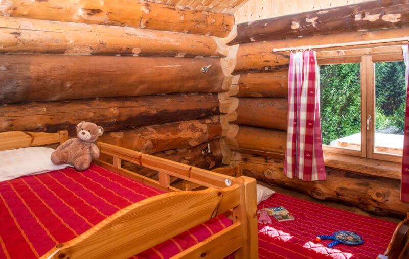 chambres enfants chalet rondins dans les Vosges