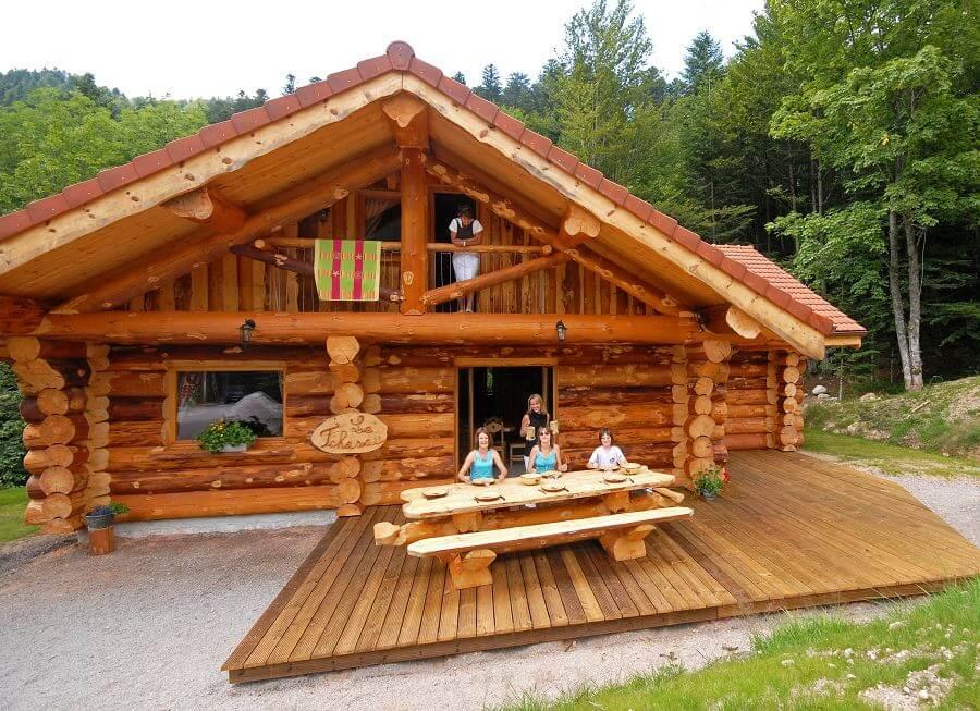 magnifique chalet rondins de 12 personnes 4 chambre location la bresse. Black Bedroom Furniture Sets. Home Design Ideas