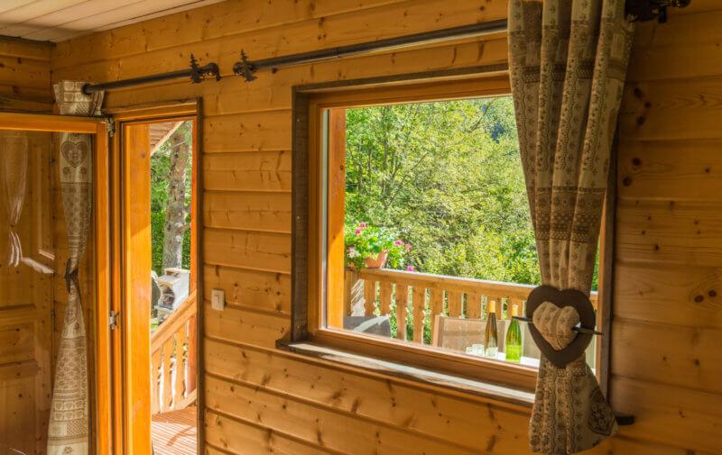 terrasse chalet traditionnel La Bresse Vosges
