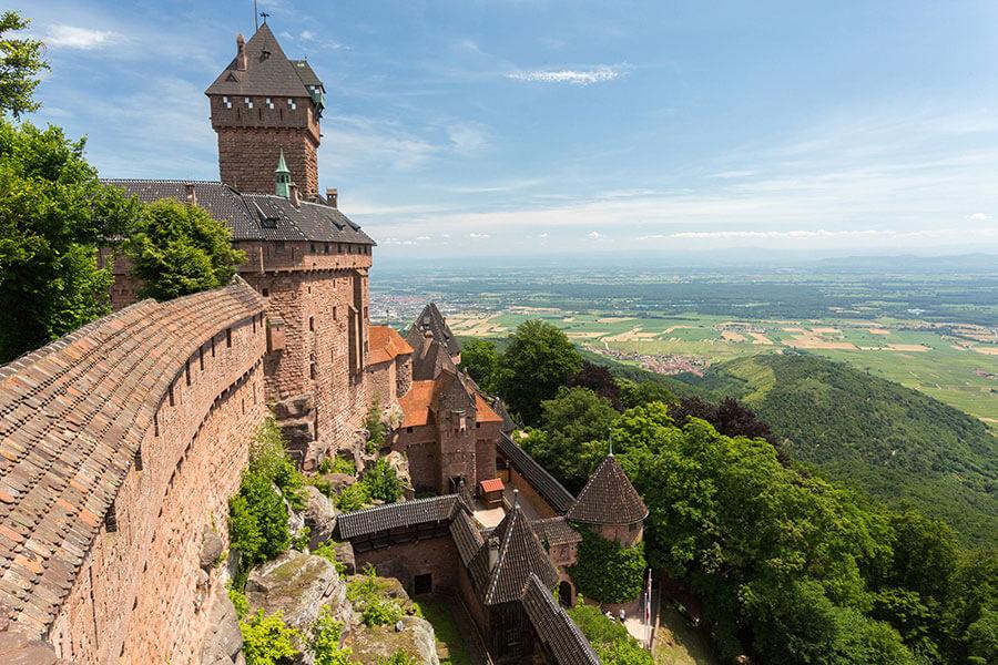 château nombreux chateaux en alsace
