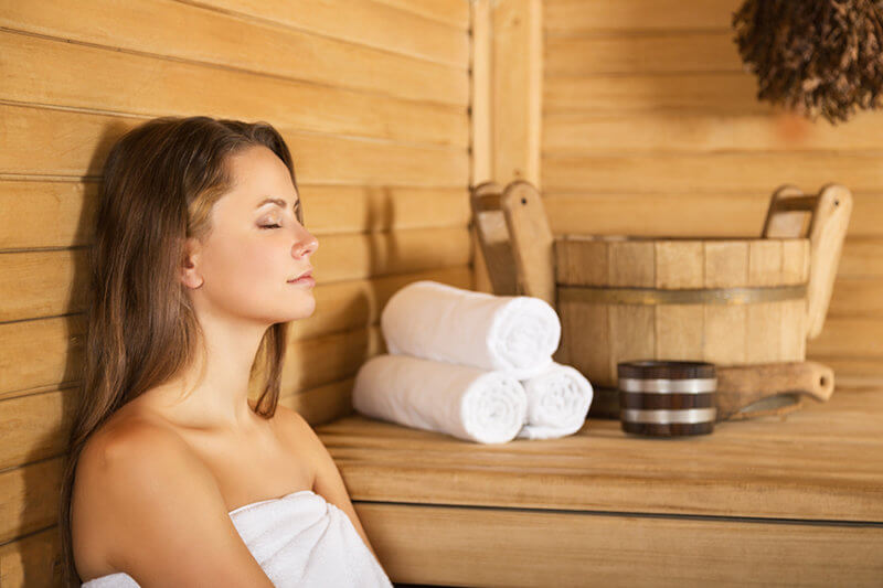 sauna sur place avec supplement