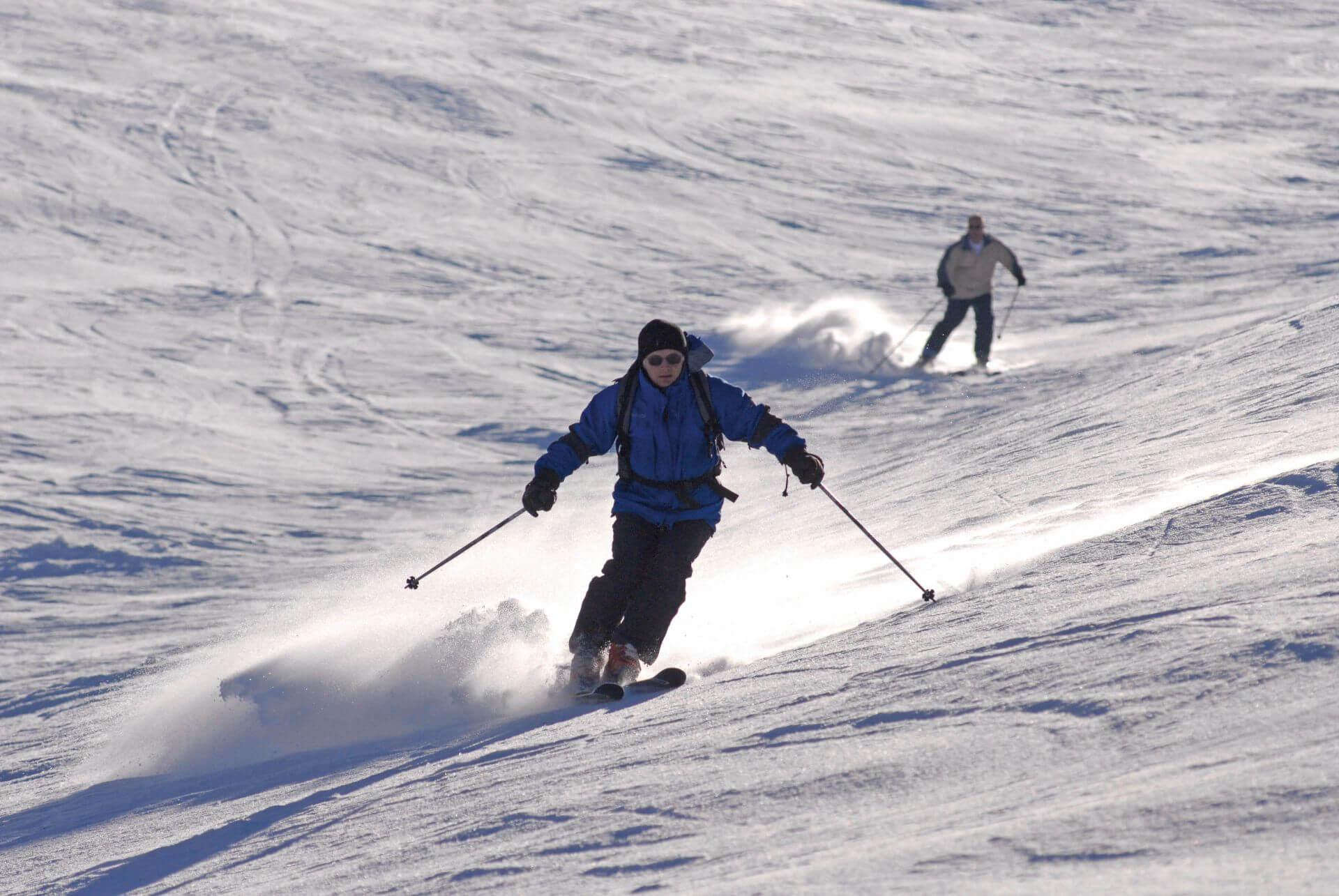 ski à la station la bellemontagne a la bresser