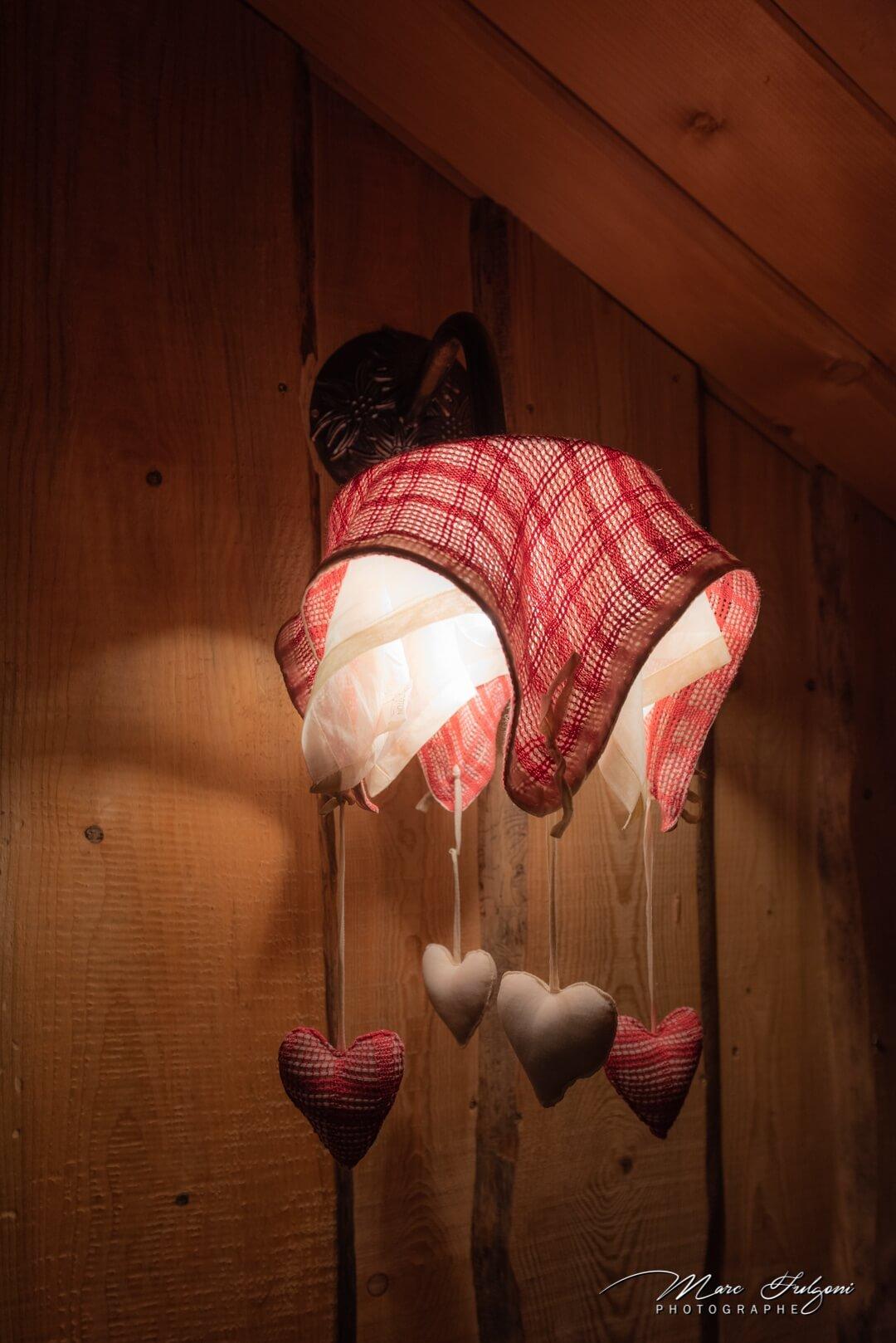 décoration soignée chalet rondins