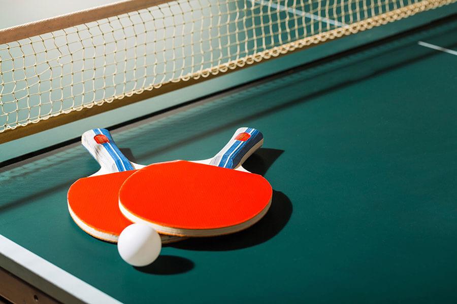 ping-pong interieur et exterieur sur place